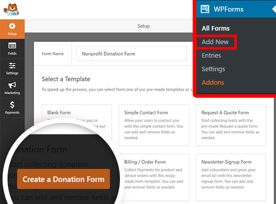 How To Create A Donate Form For Nonprofit Organization Using
