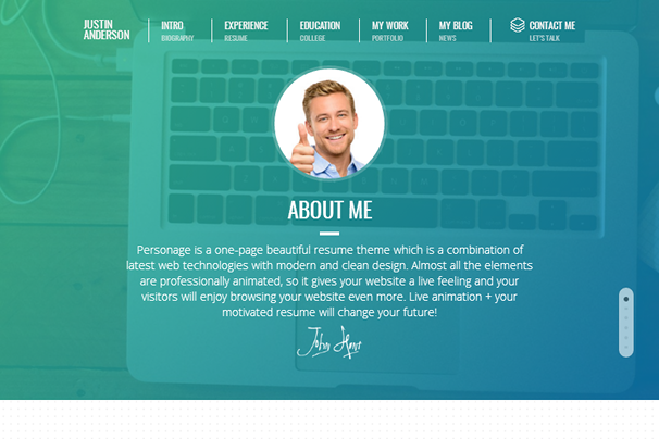 The Best Wordpress Themes For Personal Resumes Wordpress Design