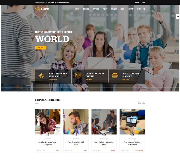 10+ Best Education WordPress Themes in 2017